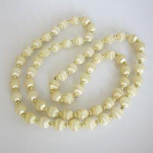 Vintage Silk Thread Beaded Necklace